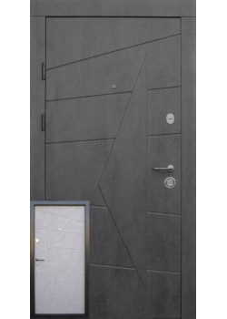 "Двери Акцент бетон темный - бетон серый ""Qdoors"""