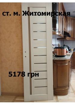 """Двери Bianca """"Rodos"""" Сосна крем 600 мм, с врезкой под механизм, фиксатор и петли врезные (правое открывание) + Комплект коробки UNIVERSAL 44/38 Сосна крем 1к-кт"""