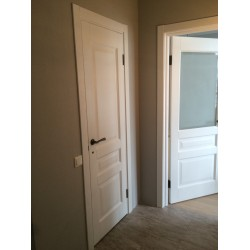"""Межкомнатные Двери 102 ПО ясень белый эмаль """"Terminus"""" Шпон"""