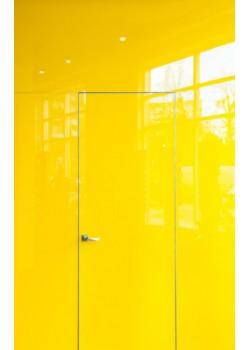 Двері прихованого монтажу скло фарбоване 55 профіль Danapris