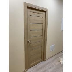 Двери Neapol BLK серое дерево Leador