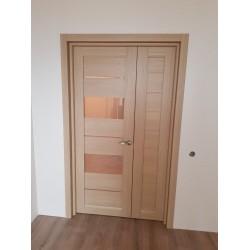 Двери Canneli Сатин бронза дуб мокко Leador