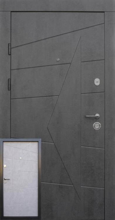 двери бетон серый
